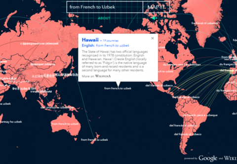 Lürzer's Archive - Word Map aggregates content from Google Translate